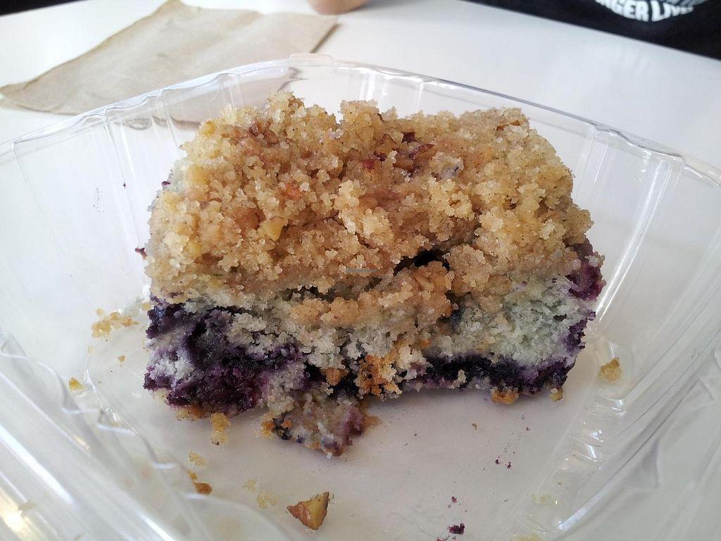 "Photo of Natural Sister Cafe  by <a href=""/members/profile/jasonlheath"">jasonlheath</a> <br/>Vegan blue berry buckle <br/> November 1, 2014  - <a href='/contact/abuse/image/18427/84334'>Report</a>"