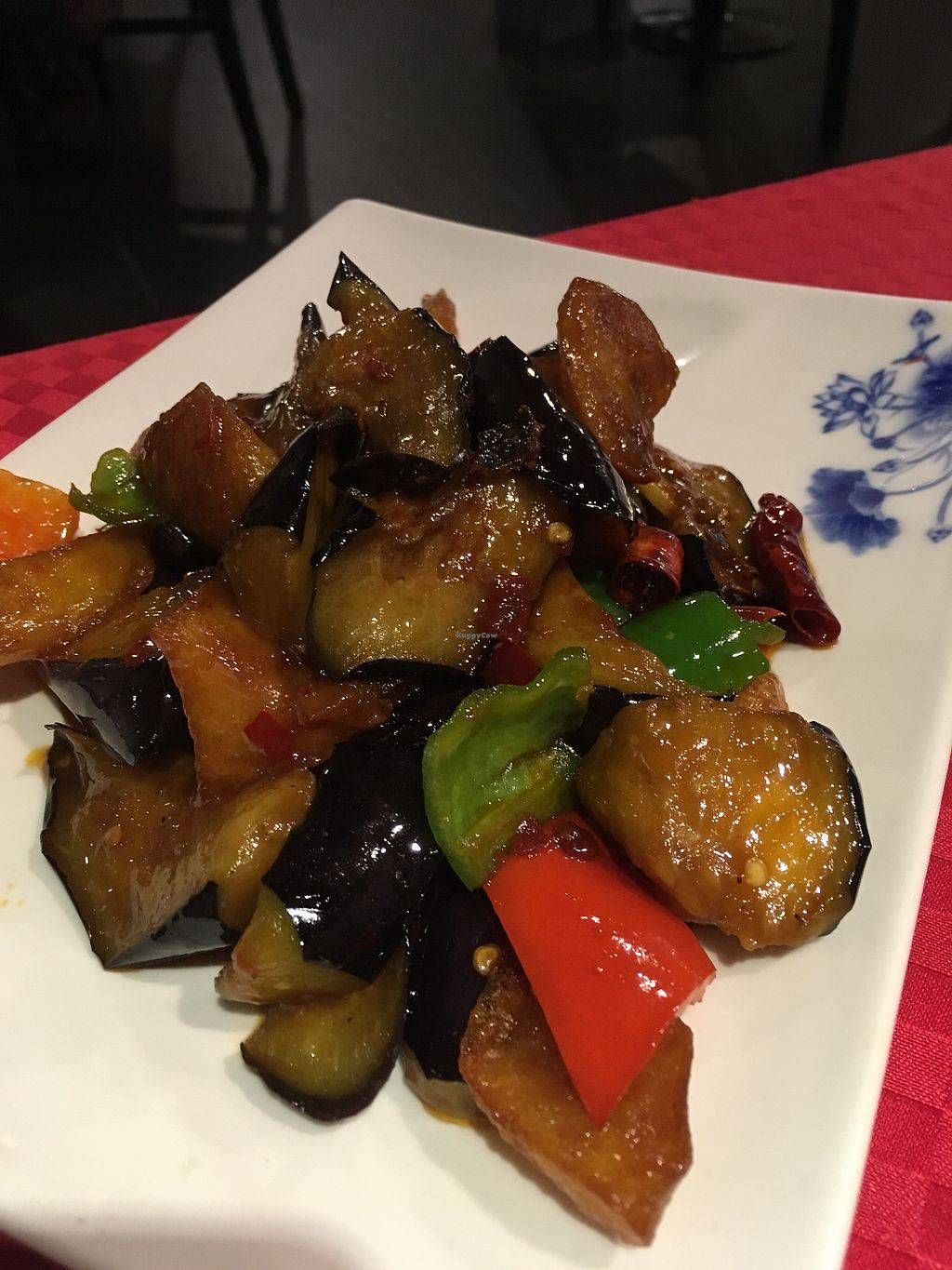 """Photo of Wu Shang Vegetarian  by <a href=""""/members/profile/SuBravo"""">SuBravo</a> <br/>aubergine/ eggplant  <br/> July 26, 2017  - <a href='/contact/abuse/image/18442/285049'>Report</a>"""