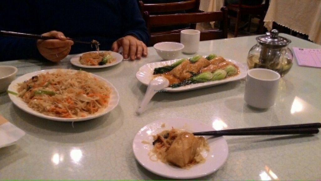 """Photo of Da Fang Vegetarian  by <a href=""""/members/profile/Olena38"""">Olena38</a> <br/>generous rice noodles and staffed tofu <br/> December 28, 2015  - <a href='/contact/abuse/image/18463/130176'>Report</a>"""