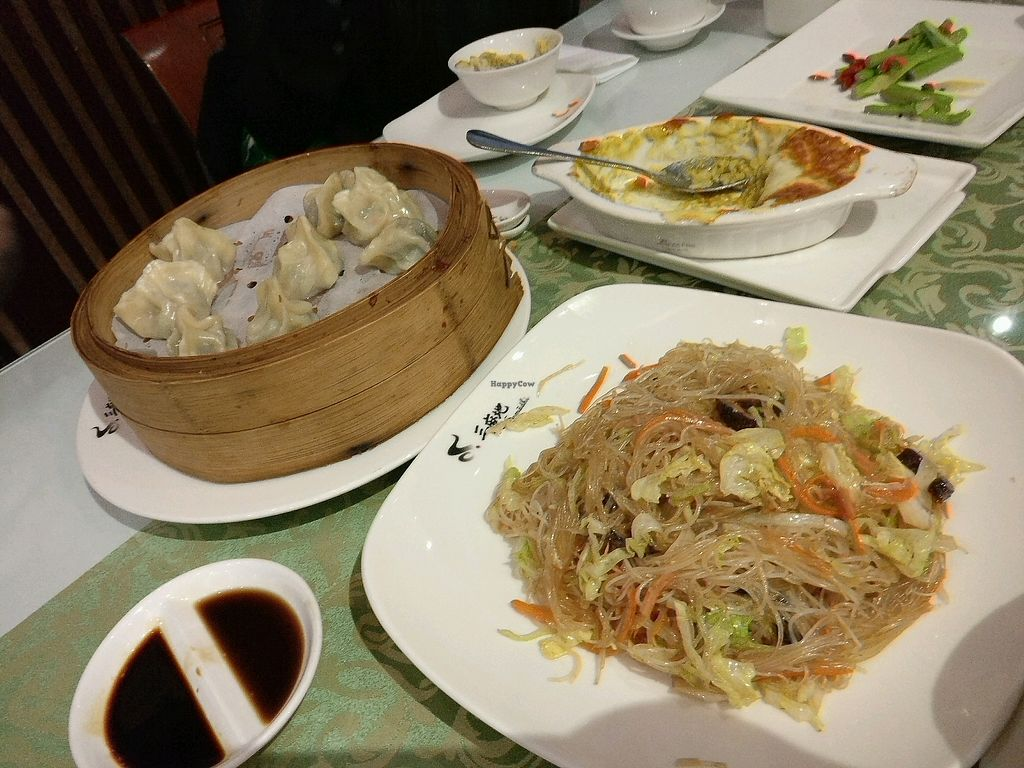 """Photo of Samadhi Art & Cafe  by <a href=""""/members/profile/cdnvegan"""" class=""""title__title"""">cdnvegan</a> <br/>Dumplings and fried noodles <br/> December 31, 2017  - <a href='/contact/abuse/image/18469/341180'>Report</a>"""
