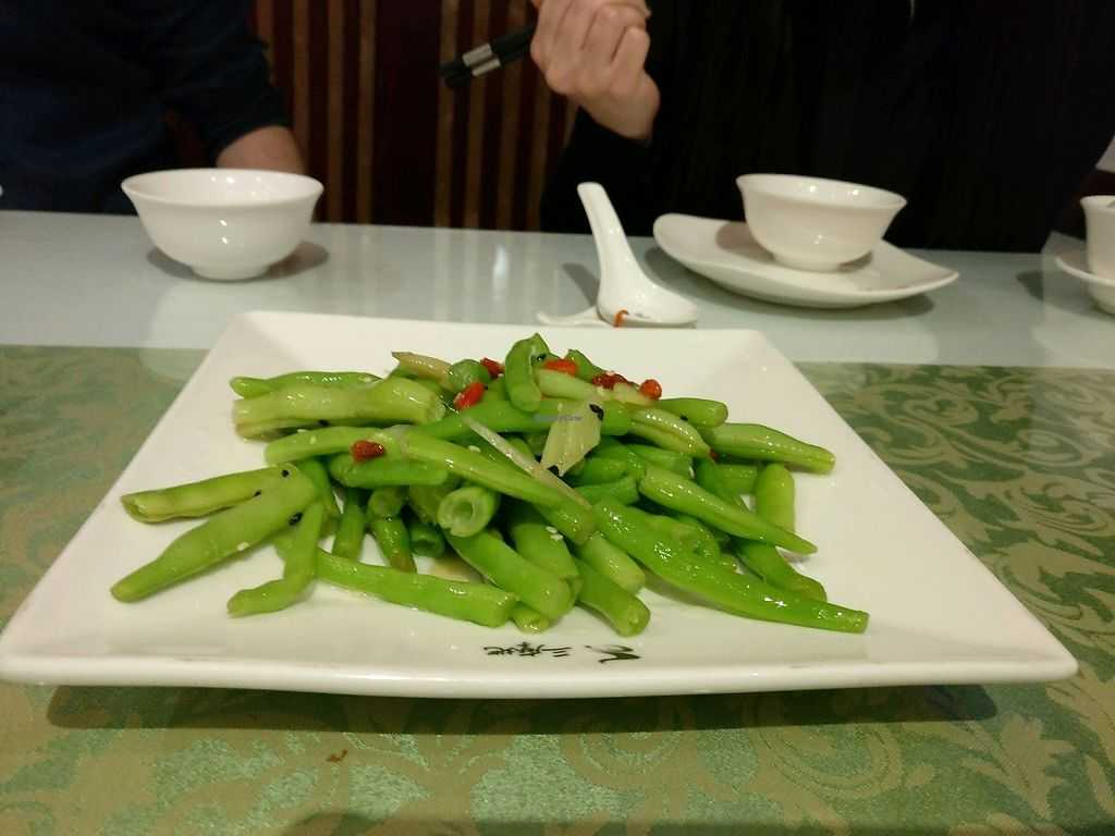 """Photo of Samadhi Art & Cafe  by <a href=""""/members/profile/cdnvegan"""">cdnvegan</a> <br/>Green beans <br/> December 31, 2017  - <a href='/contact/abuse/image/18469/341182'>Report</a>"""