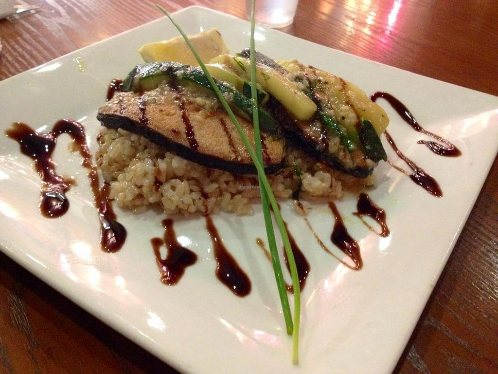 """Photo of Green Peas  by <a href=""""/members/profile/kenvegan"""">kenvegan</a> <br/>Vegan Salmon with Rice on Green Peas' winter menu <br/> January 10, 2014  - <a href='/contact/abuse/image/18548/62284'>Report</a>"""
