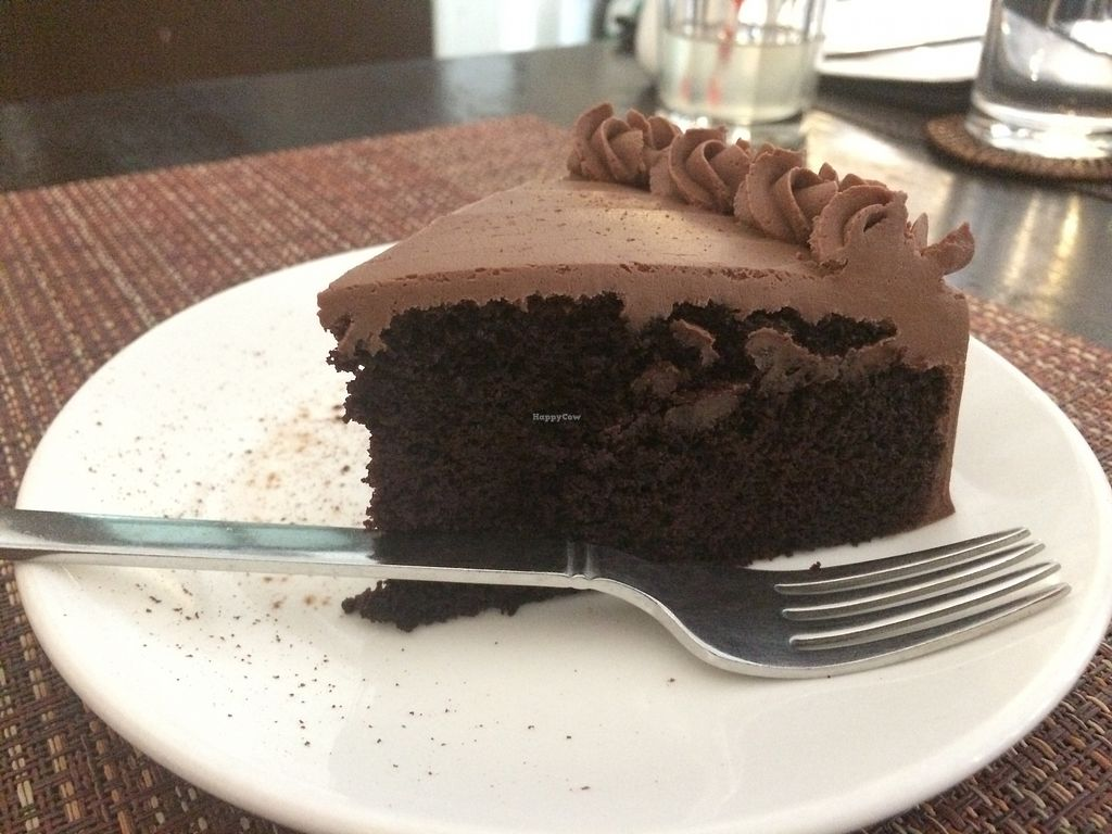 """Photo of Corner Tree Cafe  by <a href=""""/members/profile/Bethevegan"""">Bethevegan</a> <br/>vegan chocolate cake <br/> March 20, 2018  - <a href='/contact/abuse/image/18567/373336'>Report</a>"""