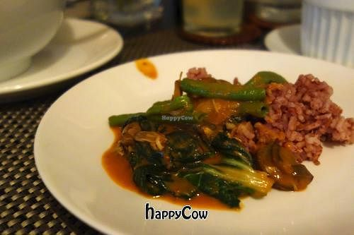 """Photo of Corner Tree Cafe  by <a href=""""/members/profile/Gudrun"""">Gudrun</a> <br/>Kare-Kareng Gulay - A traditional Filipino stew made with fresh veggies, a tasty organic peanut sauce, served with organic red rice and vegan bagoong <br/> March 15, 2013  - <a href='/contact/abuse/image/18567/45462'>Report</a>"""