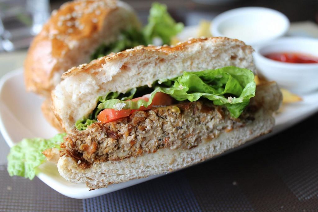 """Photo of Corner Tree Cafe  by <a href=""""/members/profile/kezia"""">kezia</a> <br/>The delicious walnut tofu burger! <br/> February 22, 2015  - <a href='/contact/abuse/image/18567/93679'>Report</a>"""