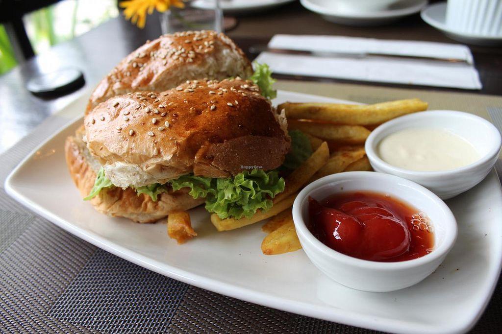 "Photo of Corner Tree Cafe  by <a href=""/members/profile/kezia"">kezia</a> <br/>walnut tofu burger with sweet potato fries <br/> February 22, 2015  - <a href='/contact/abuse/image/18567/93680'>Report</a>"