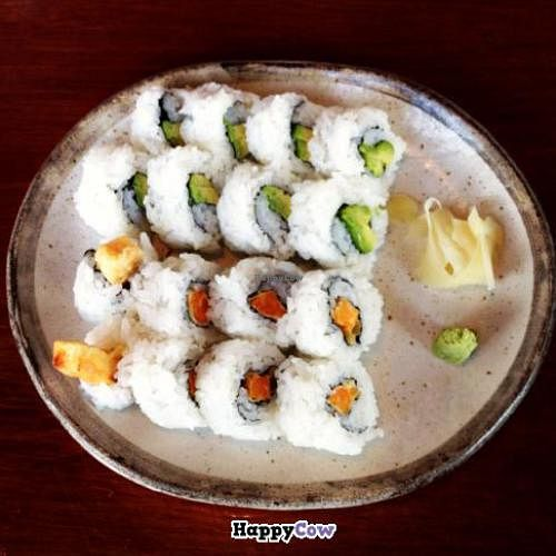 """Photo of Sanbiki  by <a href=""""/members/profile/vegetariangirl"""">vegetariangirl</a> <br/>sushi (yam and avocado) <br/> August 2, 2013  - <a href='/contact/abuse/image/18584/52646'>Report</a>"""