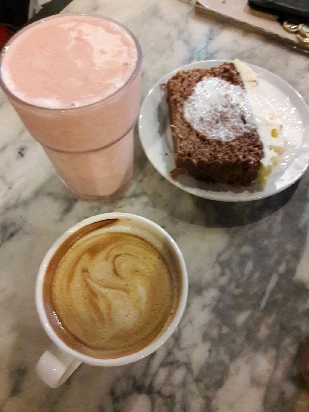 """Photo of Alpine Coffee Shop and Gallery  by <a href=""""/members/profile/VeganVegan2"""">VeganVegan2</a> <br/>Chocolate & Coconut Cake! <br/> February 14, 2018  - <a href='/contact/abuse/image/18612/359314'>Report</a>"""