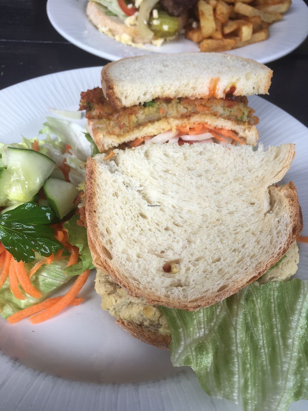 """Photo of Alpine Coffee Shop and Gallery  by <a href=""""/members/profile/MariRoberts"""">MariRoberts</a> <br/>Vegan club sandwich  Delicious, but way too much hummus which didn't taste very nice <br/> April 16, 2018  - <a href='/contact/abuse/image/18612/386654'>Report</a>"""