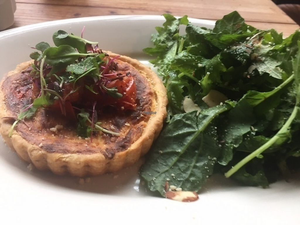 "Photo of Plum Bistro  by <a href=""/members/profile/Kittybiscuit"">Kittybiscuit</a> <br/>Red pepper quiche <br/> December 17, 2016  - <a href='/contact/abuse/image/18615/202154'>Report</a>"