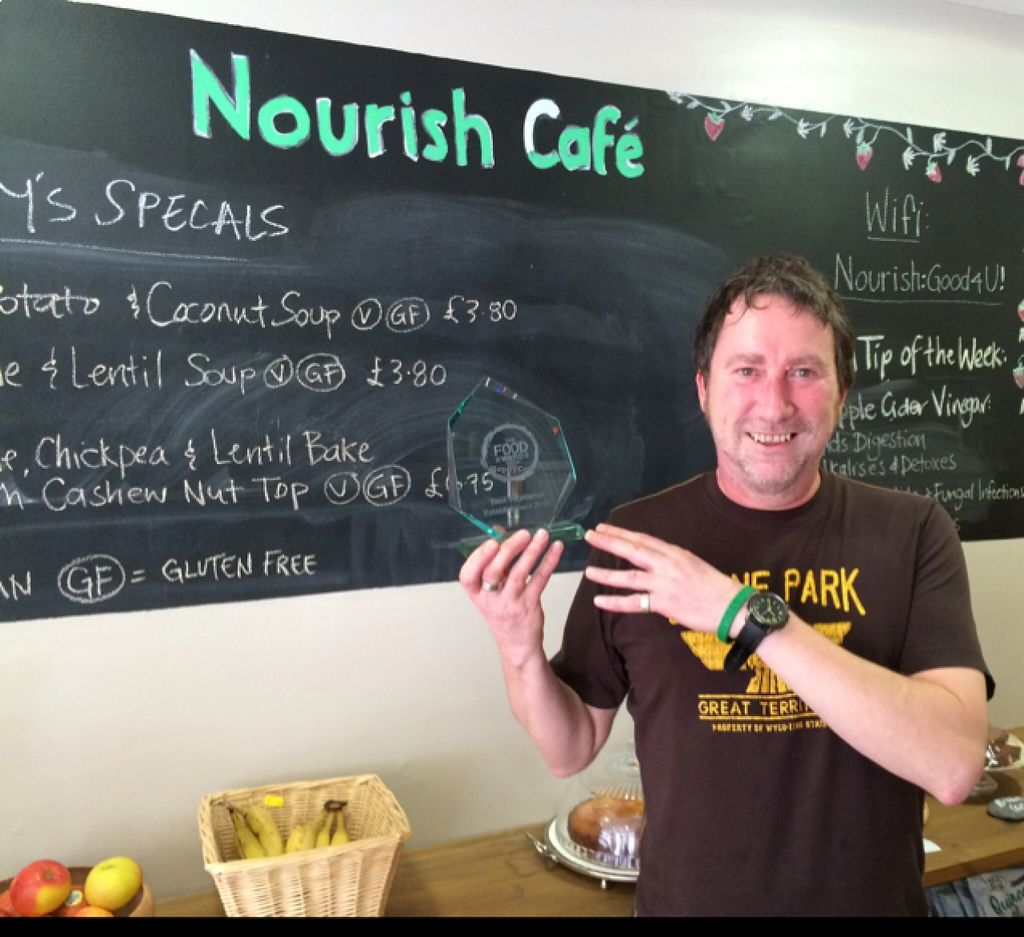 """Photo of Nourish  by <a href=""""/members/profile/Marianne1967"""">Marianne1967</a> <br/>best vegetarian restaurant in Scotland 2015! <br/> August 19, 2015  - <a href='/contact/abuse/image/18618/114261'>Report</a>"""