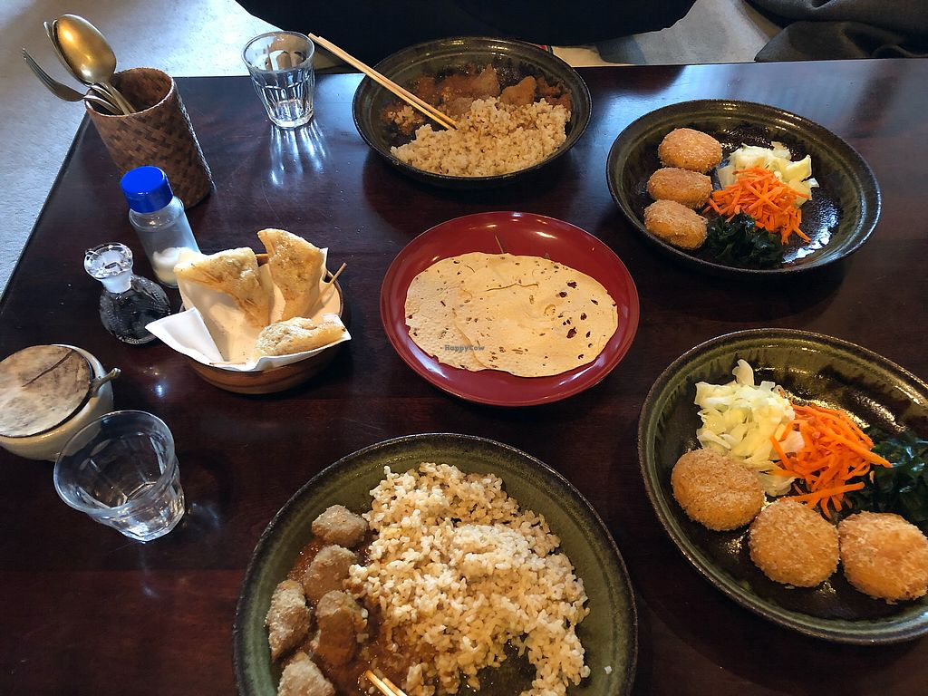 "Photo of Ashura  by <a href=""/members/profile/BellaJagger"">BellaJagger</a> <br/>Curry + croquettes with samosas and pampadoms <br/> December 11, 2017  - <a href='/contact/abuse/image/18634/334584'>Report</a>"