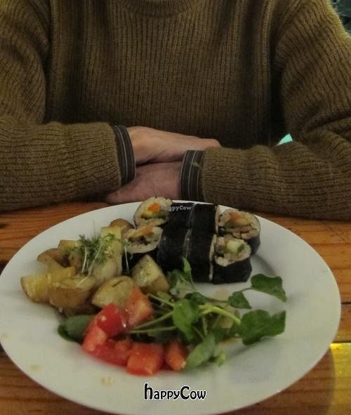 """Photo of de Peper  by <a href=""""/members/profile/Aurelia"""">Aurelia</a> <br/>Sushi, potatoes, and salad. We ate the soup before we could take a photo! <br/> November 11, 2012  - <a href='/contact/abuse/image/18636/40127'>Report</a>"""