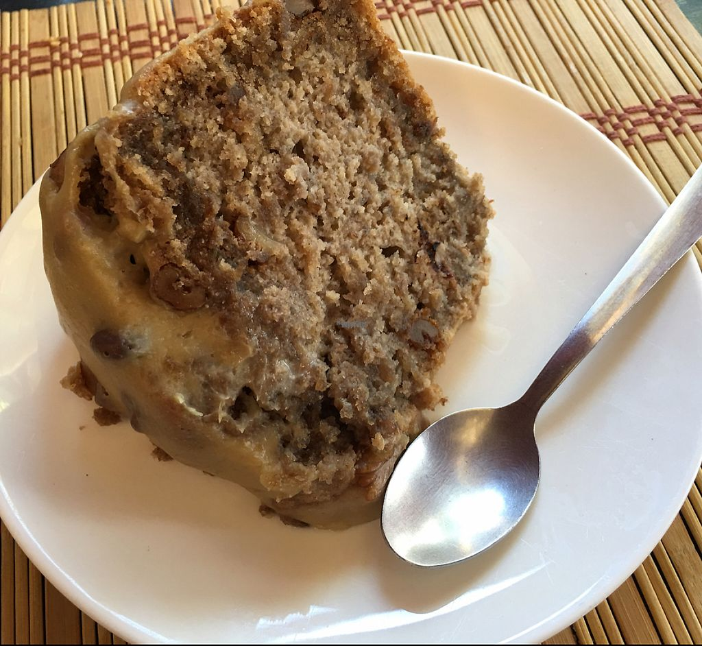 """Photo of Mantras Veggie Cafe and Tea House  by <a href=""""/members/profile/gwild"""">gwild</a> <br/>banana cake <br/> January 28, 2017  - <a href='/contact/abuse/image/18650/218069'>Report</a>"""