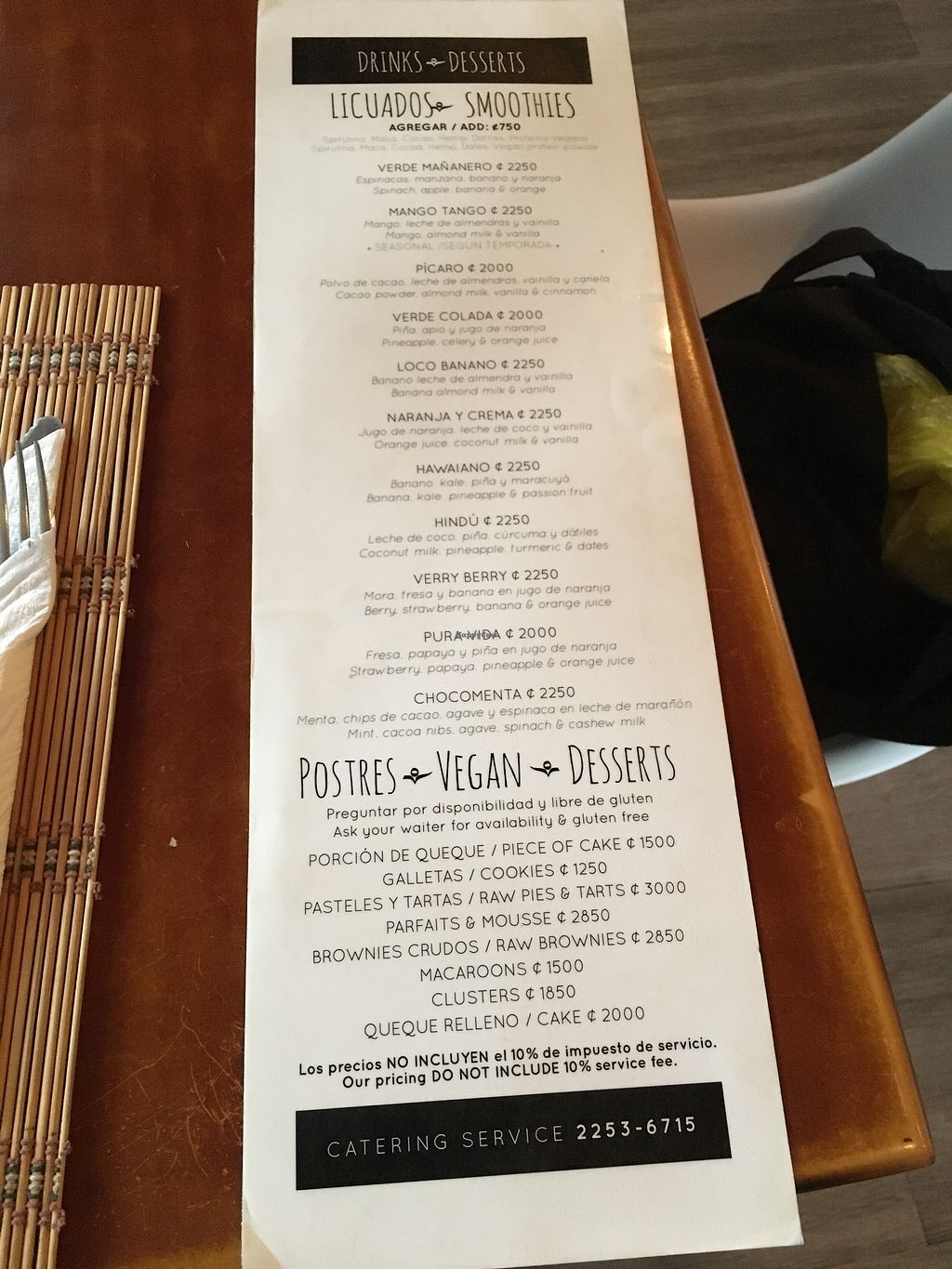 """Photo of Mantras Veggie Cafe and Tea House  by <a href=""""/members/profile/Daisygal168"""">Daisygal168</a> <br/>Menu <br/> September 22, 2017  - <a href='/contact/abuse/image/18650/307203'>Report</a>"""