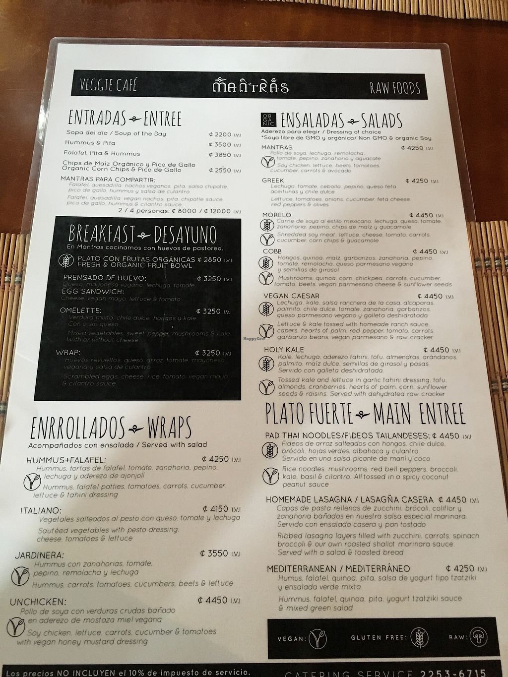 """Photo of Mantras Veggie Cafe and Tea House  by <a href=""""/members/profile/Daisygal168"""">Daisygal168</a> <br/>Menu <br/> September 22, 2017  - <a href='/contact/abuse/image/18650/307204'>Report</a>"""