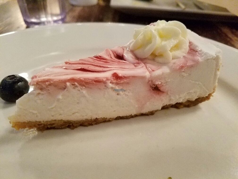 """Photo of Busboys and Poets - Mount Vernon Triangle  by <a href=""""/members/profile/EverydayTastiness"""">EverydayTastiness</a> <br/>raspberry vegan cheesecake <br/> October 14, 2016  - <a href='/contact/abuse/image/18672/182122'>Report</a>"""