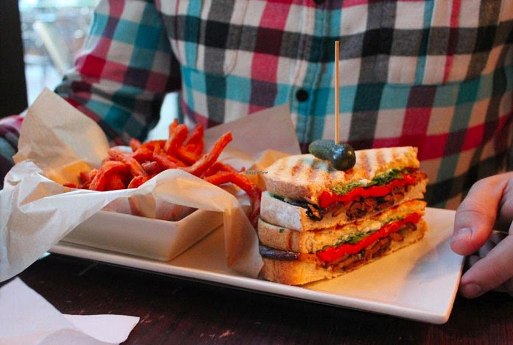 """Photo of Busboys and Poets - Mount Vernon Triangle  by <a href=""""/members/profile/Raesock"""">Raesock</a> <br/>Tempeh Panini <br/> November 7, 2014  - <a href='/contact/abuse/image/18672/84909'>Report</a>"""