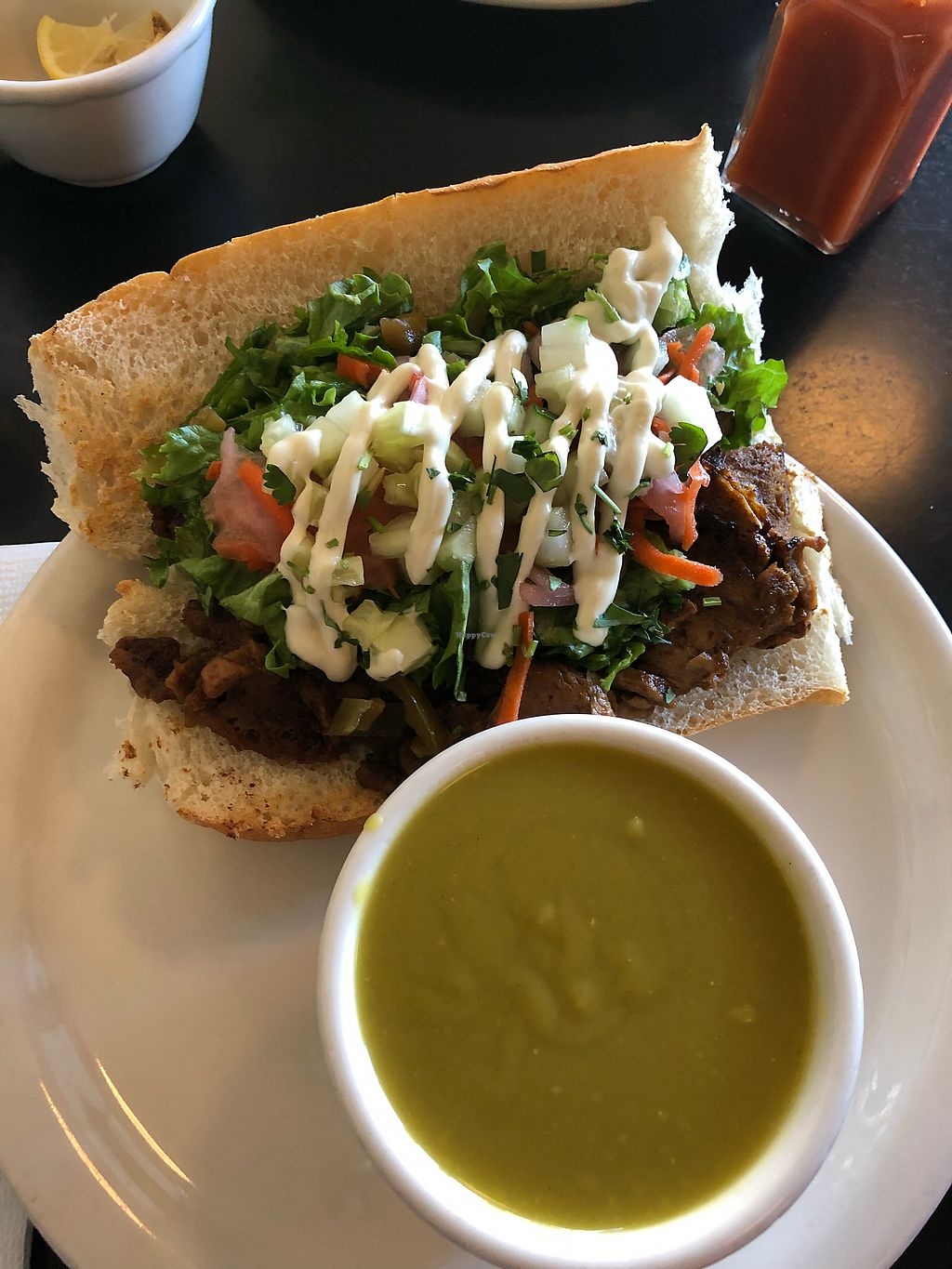 """Photo of The Grit  by <a href=""""/members/profile/KerryElise"""">KerryElise</a> <br/>Bahn Mi and Split Pea Soup <br/> March 14, 2018  - <a href='/contact/abuse/image/1868/370712'>Report</a>"""