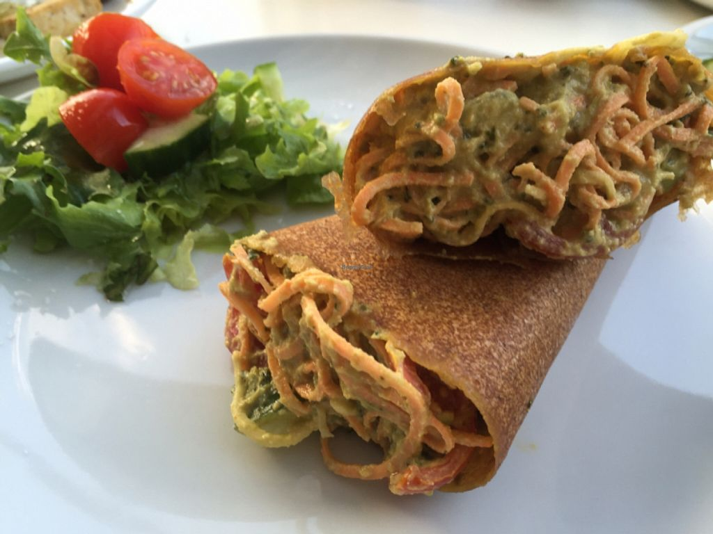 """Photo of The Greenside Cafe  by <a href=""""/members/profile/Nirankarkaur"""">Nirankarkaur</a> <br/>raw wrap with sweet potatoe and avo :) <br/> March 5, 2016  - <a href='/contact/abuse/image/18707/138892'>Report</a>"""
