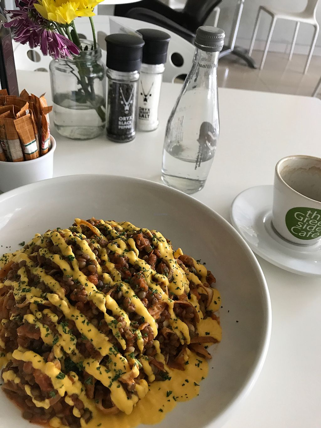 """Photo of The Greenside Cafe  by <a href=""""/members/profile/leylana"""">leylana</a> <br/>Bolognese chewy pasta. Top ? <br/> September 9, 2017  - <a href='/contact/abuse/image/18707/302389'>Report</a>"""