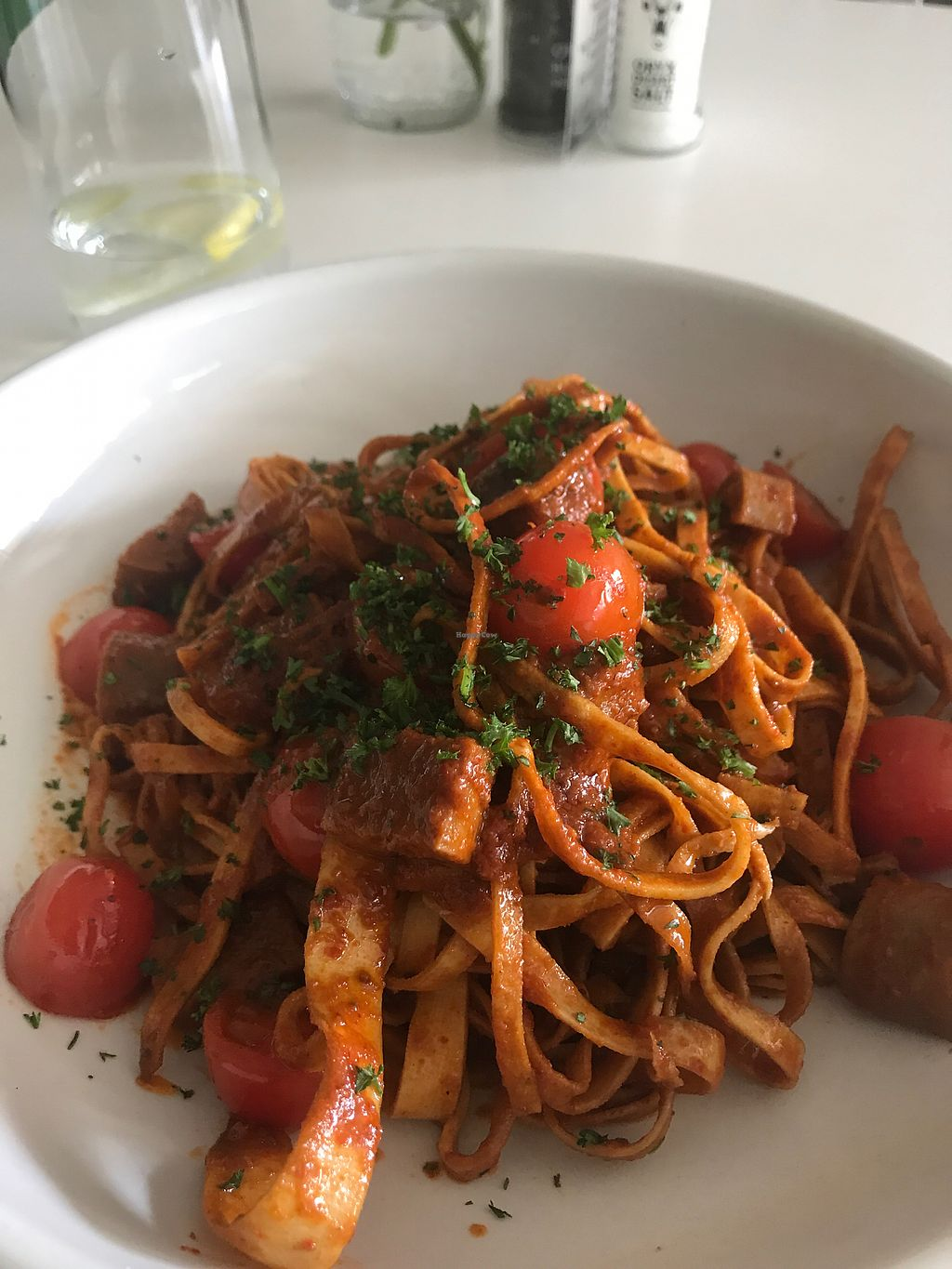 """Photo of The Greenside Cafe  by <a href=""""/members/profile/leylana"""">leylana</a> <br/>Spicy pasta with sausage. ? <br/> September 9, 2017  - <a href='/contact/abuse/image/18707/302390'>Report</a>"""