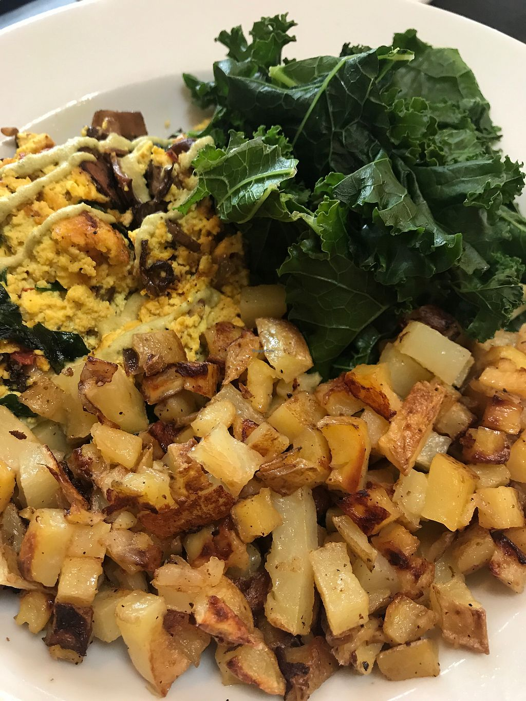 """Photo of Blossoming Lotus  by <a href=""""/members/profile/RobineBots"""">RobineBots</a> <br/>Vegan tofu scramble and delicious potatoes! <br/> March 25, 2018  - <a href='/contact/abuse/image/18709/375965'>Report</a>"""