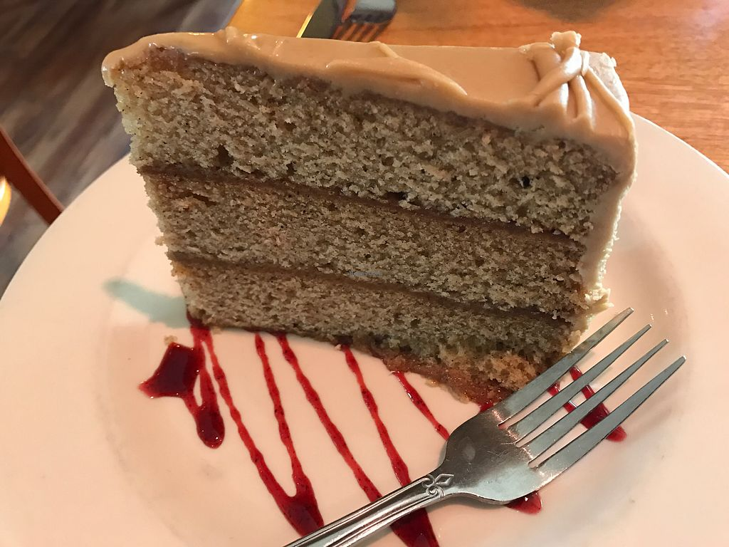 "Photo of Cafe Sunflower  by <a href=""/members/profile/TofuTrey"">TofuTrey</a> <br/>Caramel cake (this is only half of a slice, we had them put the other half in a to-go box) <br/> March 24, 2018  - <a href='/contact/abuse/image/1874/375591'>Report</a>"