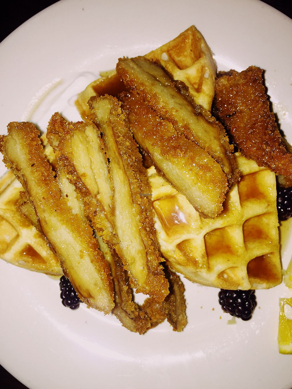 """Photo of Cafe Sunflower - Buckhead  by <a href=""""/members/profile/terrywashere"""">terrywashere</a> <br/>chicken and waffles.  <br/> July 3, 2017  - <a href='/contact/abuse/image/1875/276320'>Report</a>"""