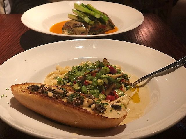 """Photo of Cafe Sunflower - Buckhead  by <a href=""""/members/profile/Dancingpurplemermaid"""">Dancingpurplemermaid</a> <br/>Vegan Pasta <br/> April 19, 2018  - <a href='/contact/abuse/image/1875/388274'>Report</a>"""