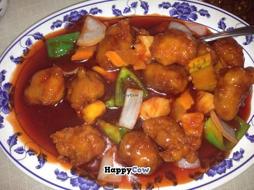"""Photo of Harmony Vegetarian  by <a href=""""/members/profile/gwild"""">gwild</a> <br/>sweet and sour mock chicken <br/> August 15, 2013  - <a href='/contact/abuse/image/1879/53316'>Report</a>"""