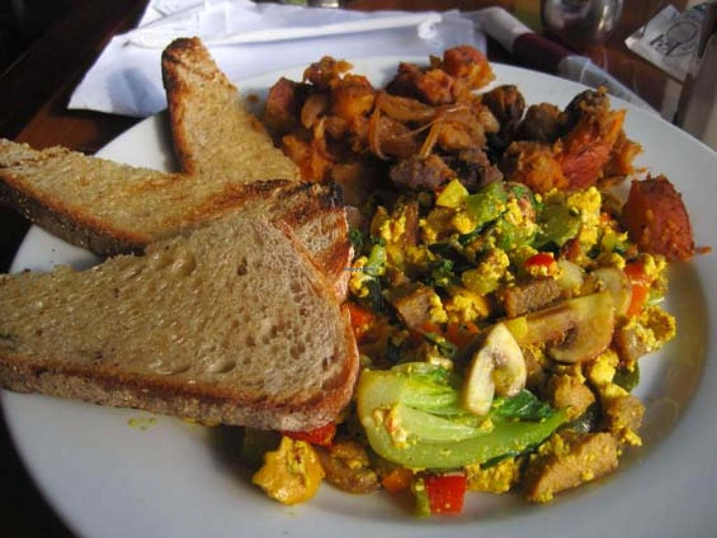 """Photo of The Red Lentil  by <a href=""""/members/profile/Babette"""">Babette</a> <br/>Omelet Special made vegan <br/> January 14, 2014  - <a href='/contact/abuse/image/18827/62479'>Report</a>"""