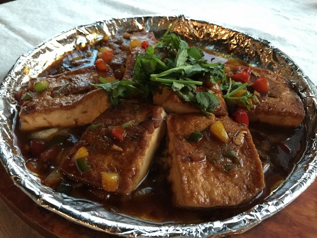 """Photo of Yi Xin Vegetarian - Tianhe District  by <a href=""""/members/profile/howardxp1"""">howardxp1</a> <br/>Tofu with veggies <br/> November 23, 2015  - <a href='/contact/abuse/image/18846/126040'>Report</a>"""