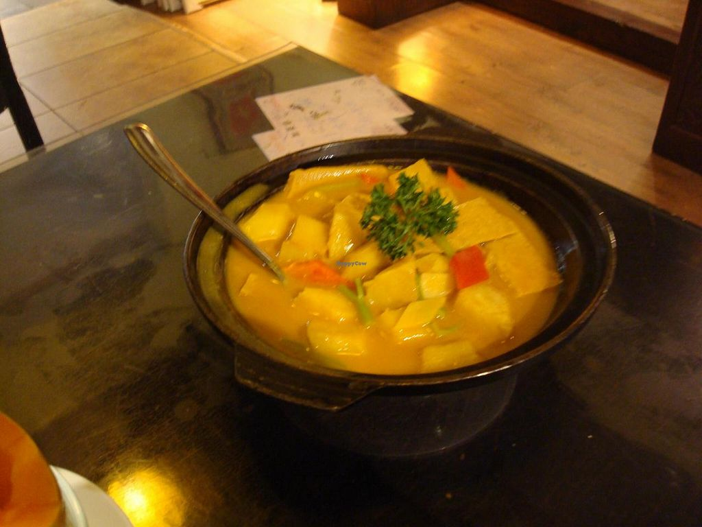 """Photo of Yi Xin Vegetarian - Tianhe District  by <a href=""""/members/profile/BayHabourVege"""">BayHabourVege</a> <br/>Soy chicken/fake chicken/mock chicken Curry <br/> April 30, 2014  - <a href='/contact/abuse/image/18846/69021'>Report</a>"""