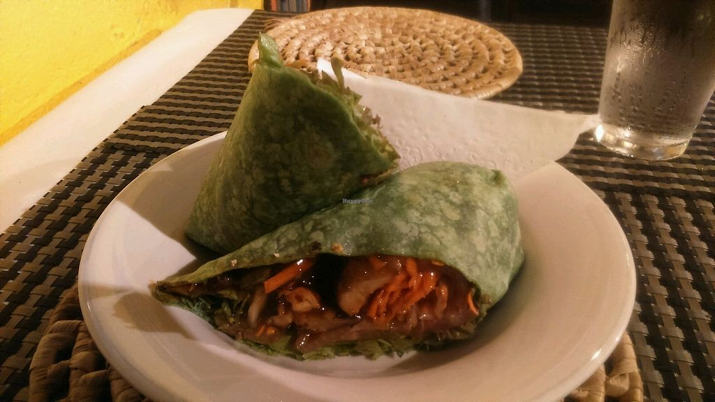"""Photo of The Good Life  by <a href=""""/members/profile/PabloDeCruz"""">PabloDeCruz</a> <br/>BBQ Vegan Chickin Wrap. Soon nice!! <br/> October 9, 2017  - <a href='/contact/abuse/image/18860/313399'>Report</a>"""