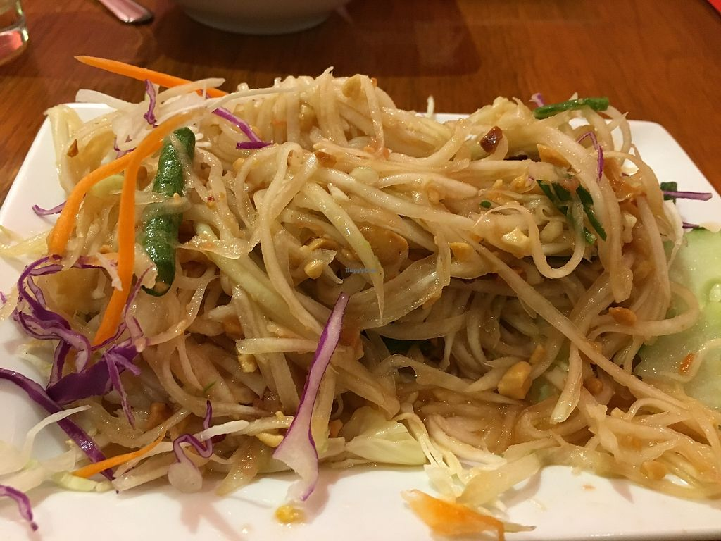 "Photo of Sen Yai Sen Lek  by <a href=""/members/profile/cookiem"">cookiem</a> <br/>Vegan som tum - papaya salad <br/> October 15, 2017  - <a href='/contact/abuse/image/18888/315353'>Report</a>"