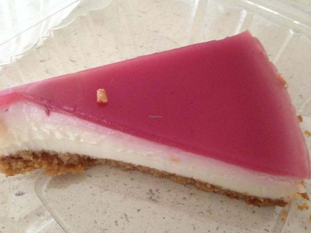 """Photo of Loving Hut  by <a href=""""/members/profile/calamaestra"""">calamaestra</a> <br/>raspberry cheesecake <br/> August 17, 2014  - <a href='/contact/abuse/image/18893/77282'>Report</a>"""