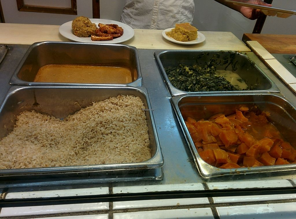 "Photo of Soul Vegetarian South  by <a href=""/members/profile/MizzB"">MizzB</a> <br/>Lunch buffet rice, gravy, yams, greens.  <br/> October 27, 2017  - <a href='/contact/abuse/image/1889/319364'>Report</a>"