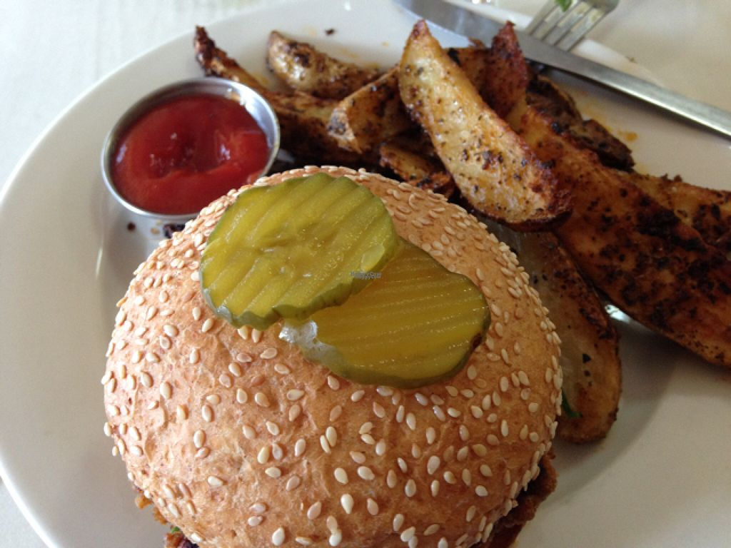 "Photo of Soul Vegetarian - Highland  by <a href=""/members/profile/calamaestra"">calamaestra</a> <br/>Garvey burger and herb potatoes <br/> August 1, 2016  - <a href='/contact/abuse/image/1890/164017'>Report</a>"
