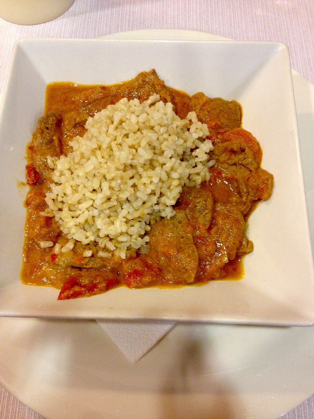 "Photo of Landare  by <a href=""/members/profile/LauraKiel"">LauraKiel</a> <br/>Main dish with soymeat and tomato sauce  <br/> October 21, 2017  - <a href='/contact/abuse/image/18912/317306'>Report</a>"
