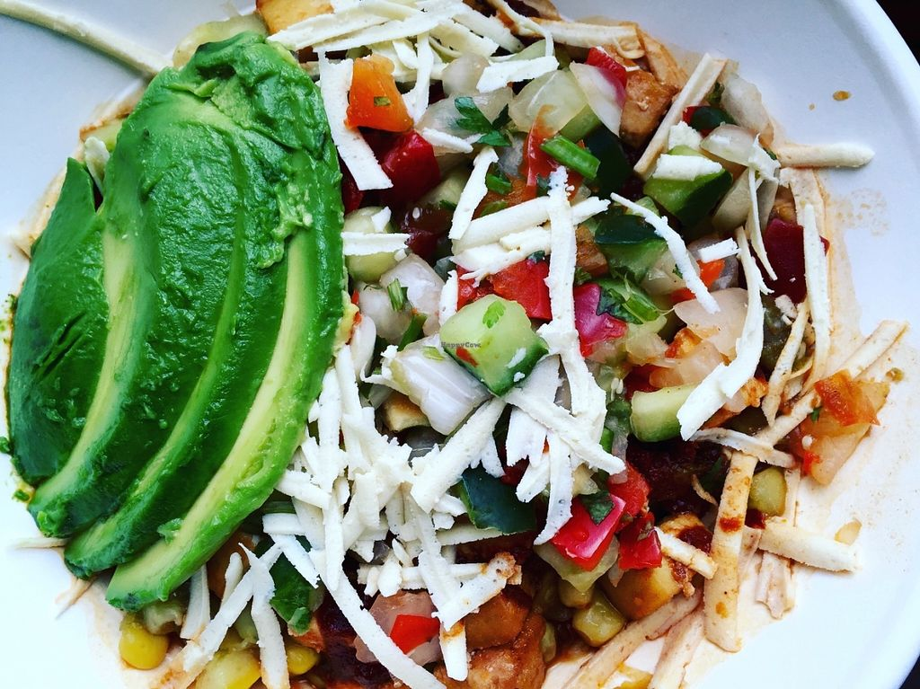 """Photo of Laughing Planet Cafe - Mississippi  by <a href=""""/members/profile/burgerabroad"""">burgerabroad</a> <br/>vegan summer fiesta bowl with tofu <br/> July 5, 2016  - <a href='/contact/abuse/image/18924/157858'>Report</a>"""