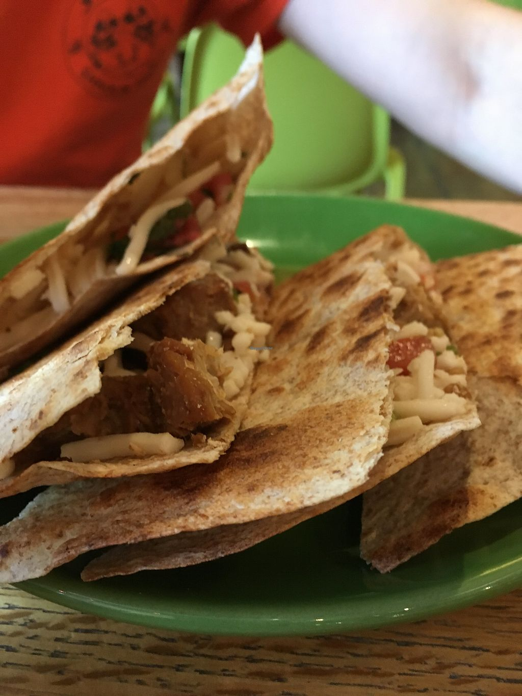 "Photo of Laughing Planet Cafe - Ecotrust  by <a href=""/members/profile/slo0go"">slo0go</a> <br/>Vegan quesadilla <br/> March 23, 2018  - <a href='/contact/abuse/image/18927/374638'>Report</a>"