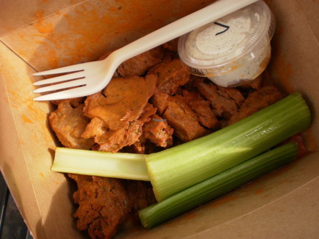 """Photo of Spak Brothers  by <a href=""""/members/profile/ecoRDN"""">ecoRDN</a> <br/>Spak Brothers 'Seitan Buffalo Wings, Pittsburgh, PA -  Photo by ecoRDN ecoRDN.com <br/> October 31, 2016  - <a href='/contact/abuse/image/18941/185588'>Report</a>"""