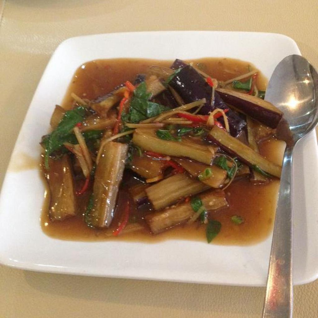 """Photo of Nature's Vegetarian Restaurant  by <a href=""""/members/profile/AndyT"""">AndyT</a> <br/>Eggplant <br/> June 5, 2014  - <a href='/contact/abuse/image/18976/71440'>Report</a>"""