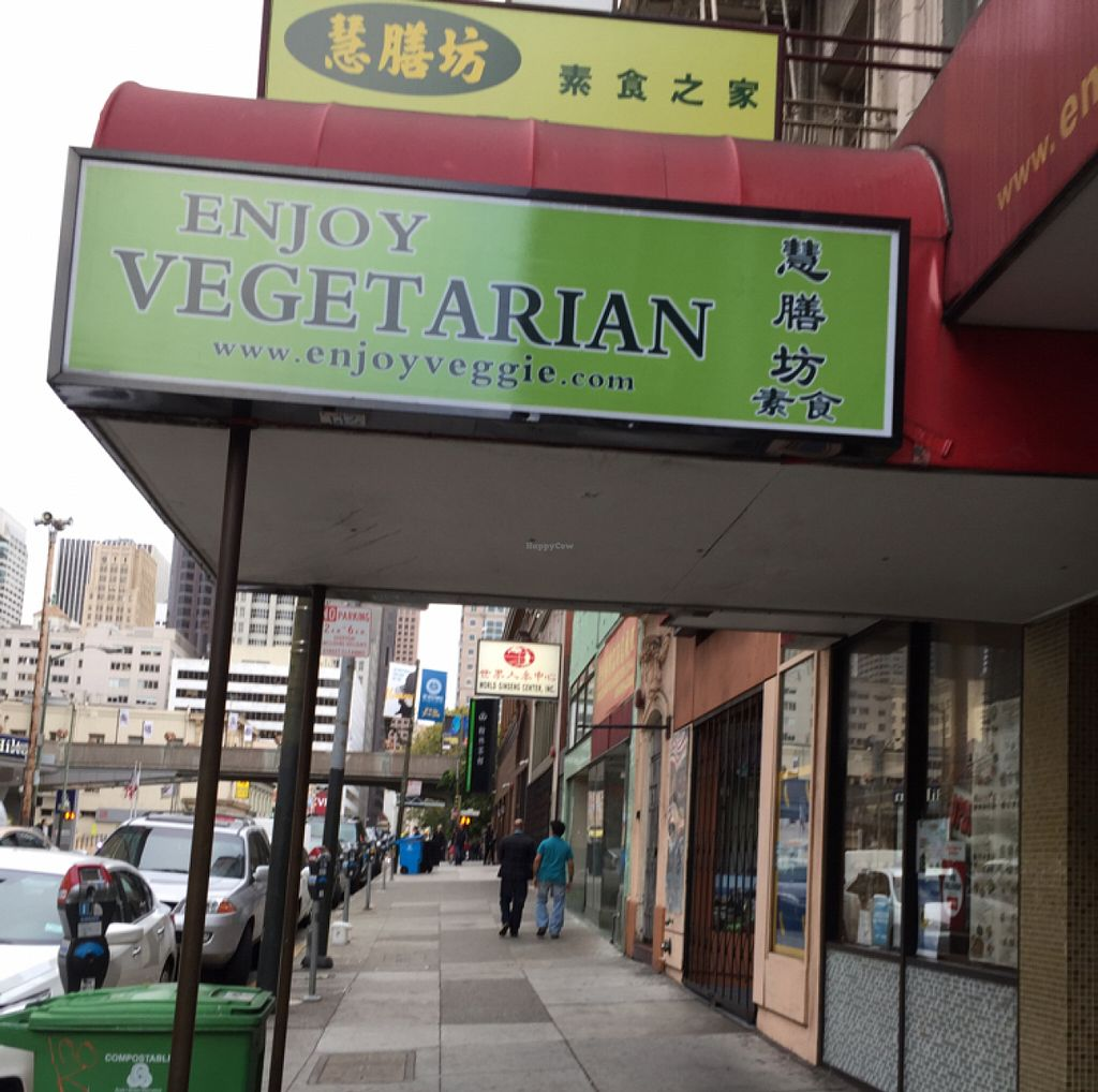 """Photo of Enjoy Vegetarian Restaurant - Financial District  by <a href=""""/members/profile/SavoyTruffle"""">SavoyTruffle</a> <br/>exterior <br/> July 19, 2016  - <a href='/contact/abuse/image/19009/160803'>Report</a>"""