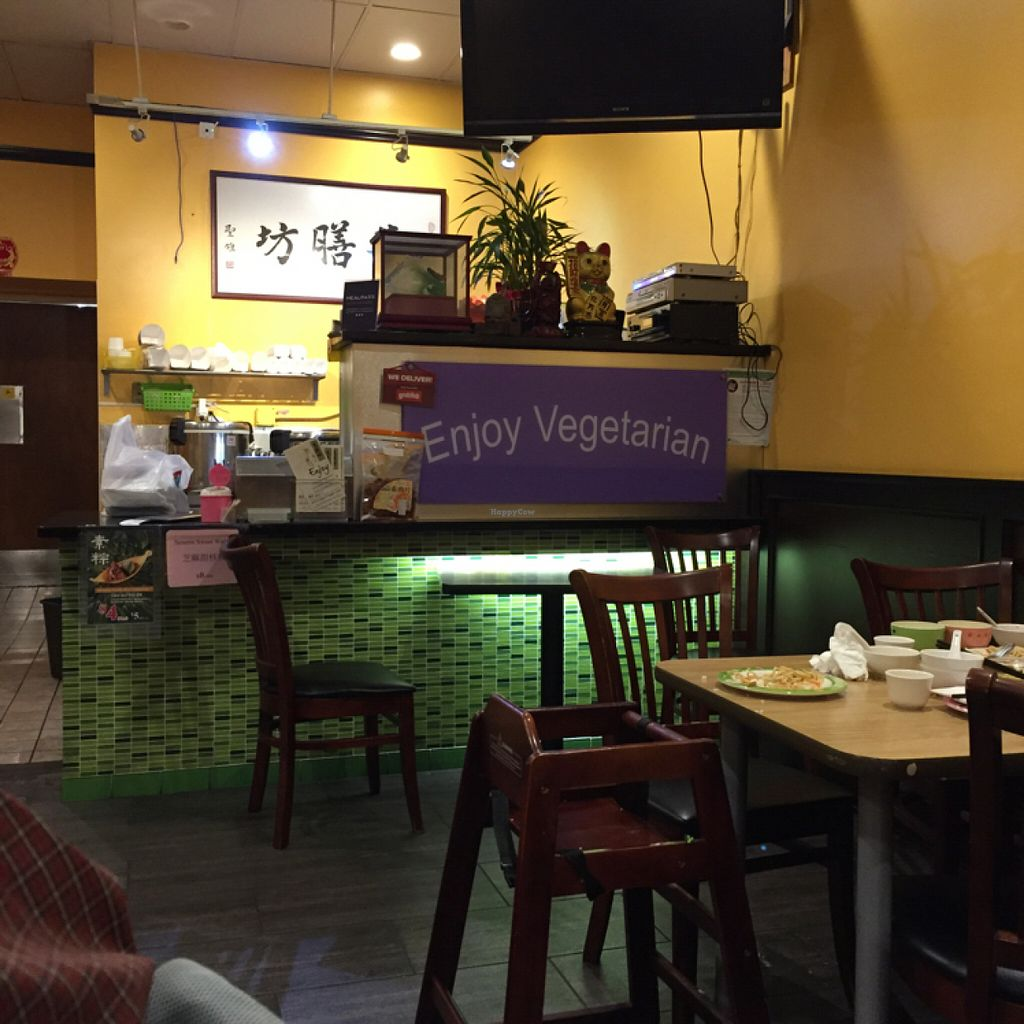 """Photo of Enjoy Vegetarian Restaurant - Financial District  by <a href=""""/members/profile/SavoyTruffle"""">SavoyTruffle</a> <br/>Interior <br/> July 19, 2016  - <a href='/contact/abuse/image/19009/160805'>Report</a>"""