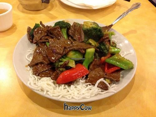 """Photo of Enjoy Vegetarian Restaurant - Financial District  by <a href=""""/members/profile/SynthVegan"""">SynthVegan</a> <br/>Mongolian beef <br/> January 7, 2013  - <a href='/contact/abuse/image/19009/42471'>Report</a>"""