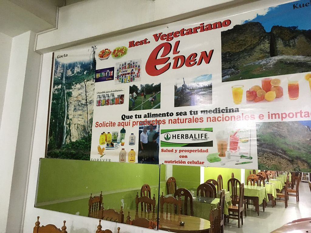 "Photo of Restaurant Vegetariano El Eden  by <a href=""/members/profile/peas-full"">peas-full</a> <br/>wall <br/> September 27, 2017  - <a href='/contact/abuse/image/19055/308910'>Report</a>"