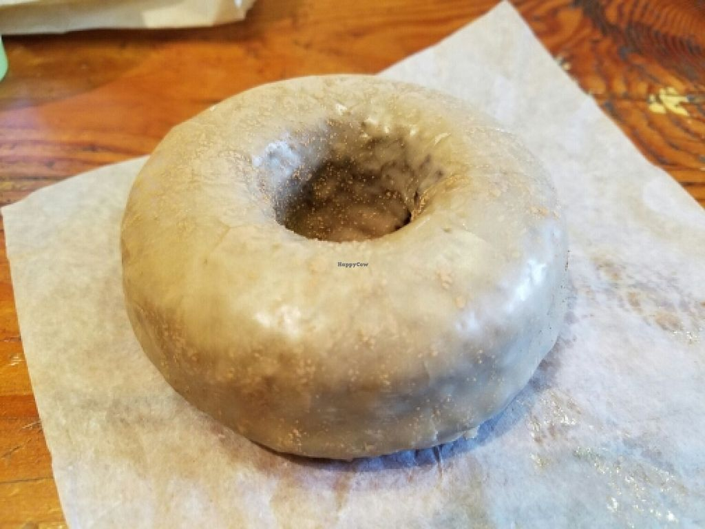 """Photo of Back To Eden Bakery  by <a href=""""/members/profile/EverydayTastiness"""">EverydayTastiness</a> <br/>root beer chocolate donut <br/> June 11, 2016  - <a href='/contact/abuse/image/19063/153513'>Report</a>"""