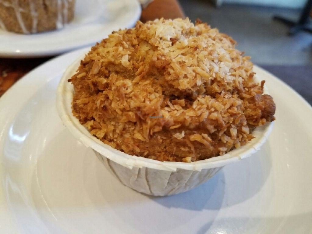 """Photo of Back To Eden Bakery  by <a href=""""/members/profile/EverydayTastiness"""">EverydayTastiness</a> <br/>coconut cardamom muffin <br/> June 11, 2016  - <a href='/contact/abuse/image/19063/153514'>Report</a>"""